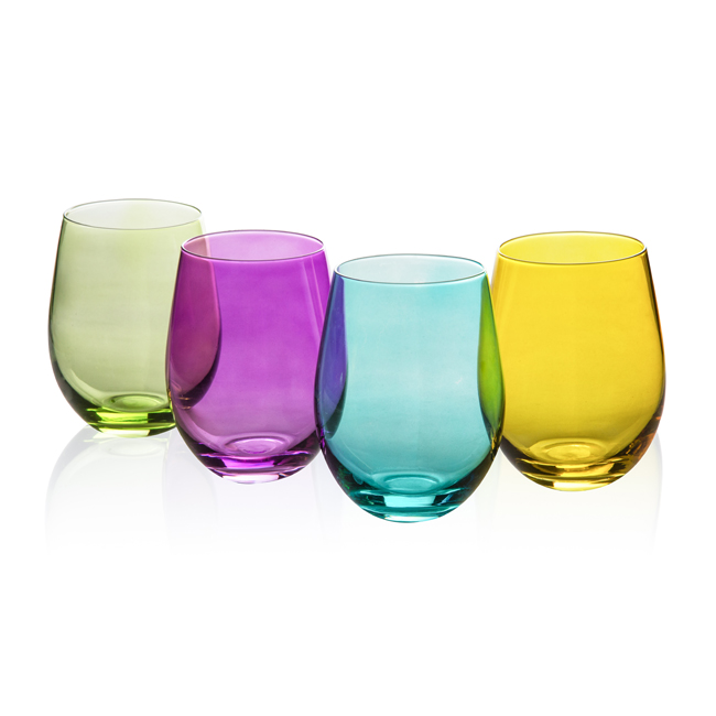 Colorful Wine Glass 550ml 4pcs,GS0201